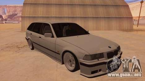 BMW M3 E36 Touring para GTA San Andreas vista hacia atrás