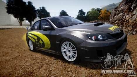 Subaru Impreza WRX STi 2011 Subaru World Rally para GTA 4 vista lateral