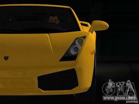 Lamborghini Gallardo para GTA Vice City visión correcta