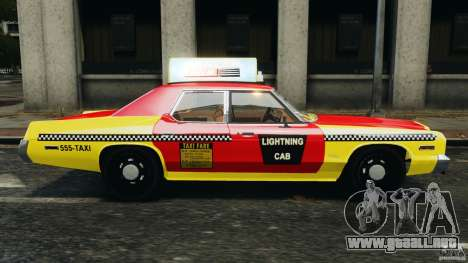 Dodge Monaco 1974 Taxi v1.0 para GTA 4 left