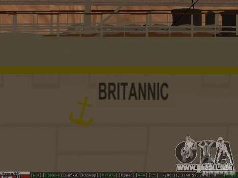 HMHS Britannic para la vista superior GTA San Andreas