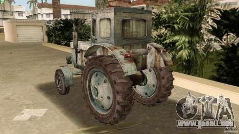 Tractor t-40 para GTA Vice City vista lateral