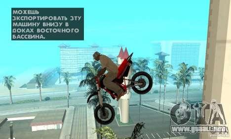 DT 180 Motard para visión interna GTA San Andreas