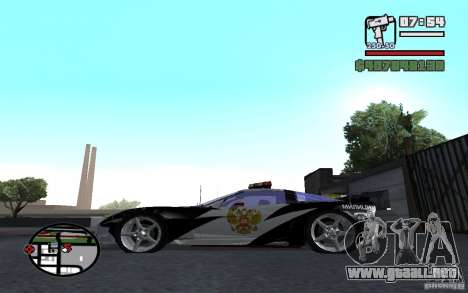 Cross Corvette C6R inglés para GTA San Andreas left