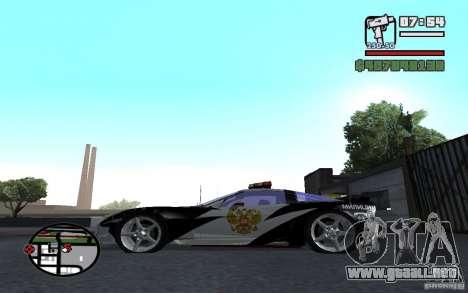 Cross Corvette C6R inglés para GTA San Andreas left