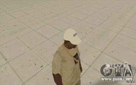 Jefe Cap white para GTA San Andreas segunda pantalla
