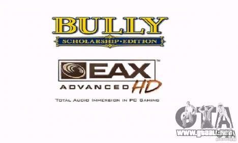 Arranque prediseñadas Bully Scholarship Edition para GTA San Andreas sucesivamente de pantalla
