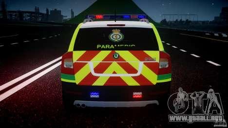 Skoda Octavia Scout Paramedic [ELS] para GTA motor 4