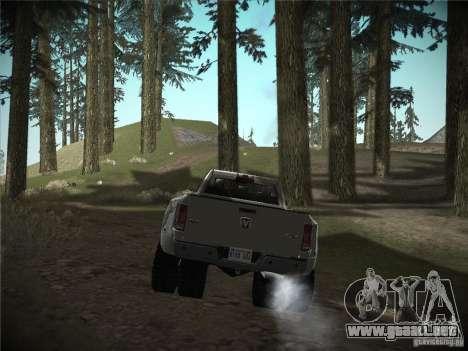 Dodge Ram 3500 4X4 para GTA San Andreas vista posterior izquierda