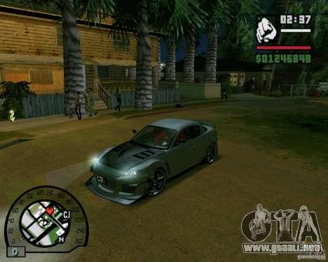 Mazda RX8 JDM Style para GTA San Andreas left