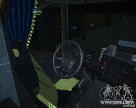 Scania 164L para la visión correcta GTA San Andreas