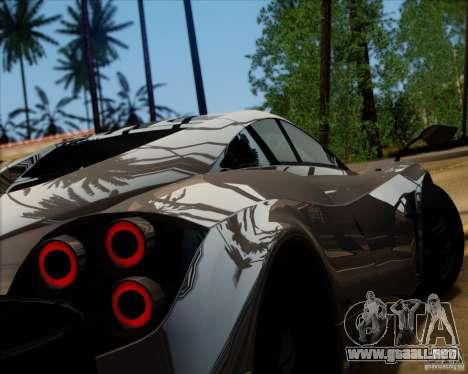Pagani Huayra 2011 para GTA San Andreas left