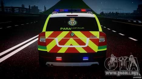 Skoda Octavia Scout Paramedic [ELS] para GTA 4 ruedas