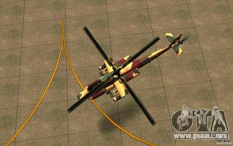 Hunter Armee Look para GTA San Andreas vista hacia atrás