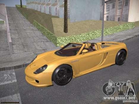 Porsche Carrera GT para GTA San Andreas left