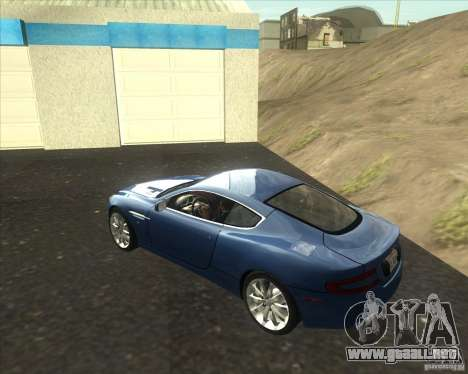 Aston Martin DB9 tunable para GTA San Andreas left
