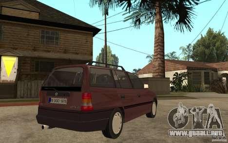 Opel Astra SW 1.6 1994 para la visión correcta GTA San Andreas