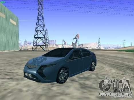 Opel Ampera 2012 para GTA San Andreas vista posterior izquierda