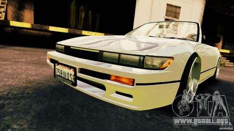 Nissan Silvia S13 Cabrio para GTA 4 visión correcta