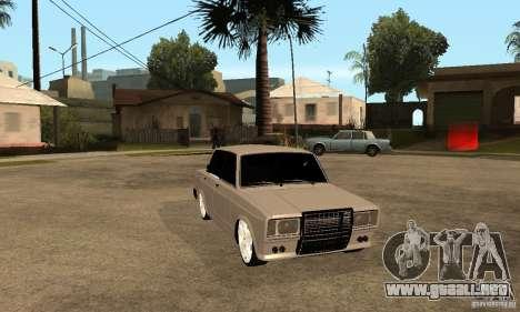 Lada VAZ 2107 LT para GTA San Andreas vista hacia atrás