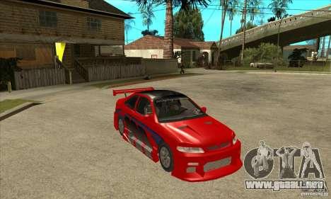 Honda Civic Tuning Tunable para la vista superior GTA San Andreas