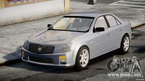 Cadillac CTS-V para GTA 4 vista hacia atrás