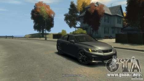 Lexus IS F para GTA 4 left