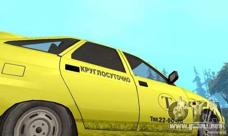 VAZ 21124 TAXI para visión interna GTA San Andreas