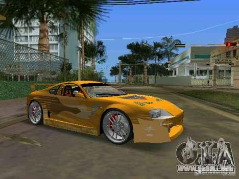 Toyota Supra para GTA Vice City vista lateral izquierdo