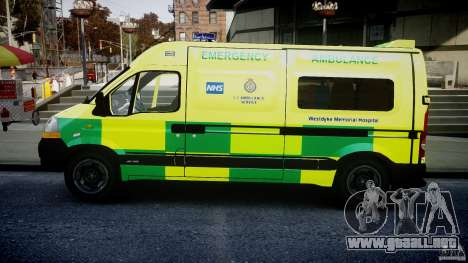 Renault Master 2007 Ambulance Scottish [ELS] para GTA 4 left