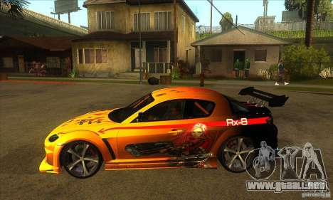 Mazda RX8 Slipknot Style para GTA San Andreas left