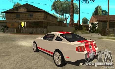 Ford Mustang Shelby GT500 2011 para la visión correcta GTA San Andreas