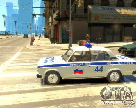 Policía Vaz 2105 para GTA 4 visión correcta
