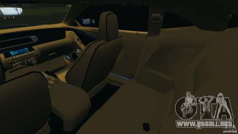 Chevrolet Camaro ZL1 2012 v1.0 Smoke Stripe para GTA 4 vista interior