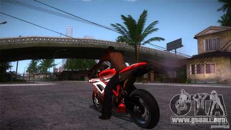 Ducati 1098 para GTA San Andreas vista posterior izquierda