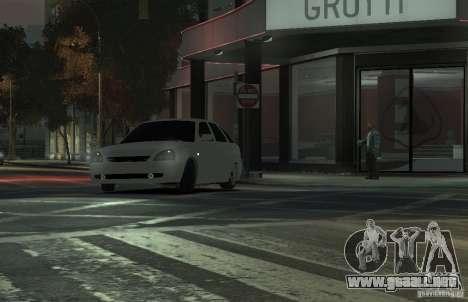 VAZ Lada Priora 2172 para GTA 4 vista hacia atrás