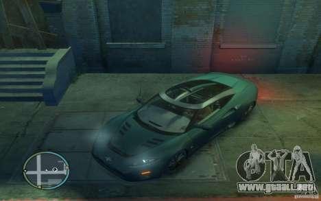 Spyker C8 Aileron para GTA 4 left