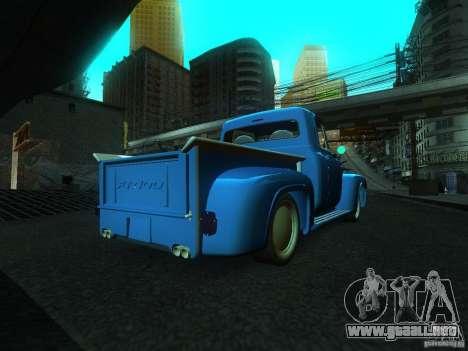 Ford FR 100 para GTA San Andreas left