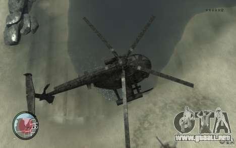 AH-6 Little Bird AcuDigital Camo para GTA 4 visión correcta