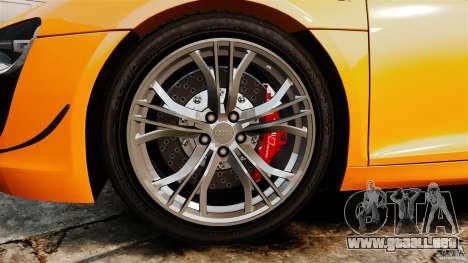 Audi R8 GT Coupe 2011 para GTA 4 vista interior