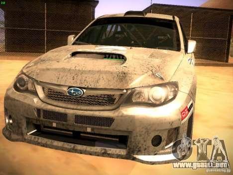 Subaru Impreza Gravel Rally para GTA San Andreas left