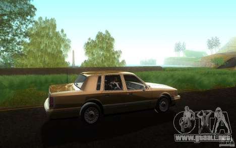 Lincoln Towncar 1991 para GTA San Andreas left