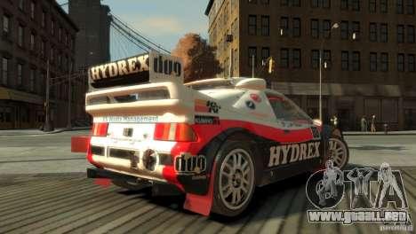 Ford RS200 Evolution Rallycross para GTA 4 left