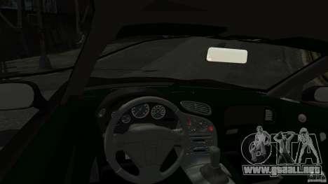 Mazda RX7 1995 Black [EPM] para GTA 4 vista hacia atrás