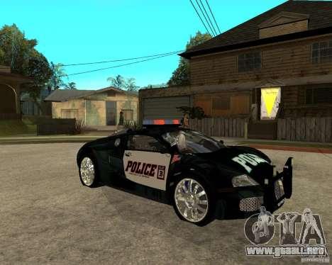 Bugatti Veyron policía San Fiero para la visión correcta GTA San Andreas