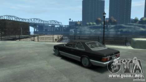 Mercedes-Benz w126 560SEC para GTA 4 left