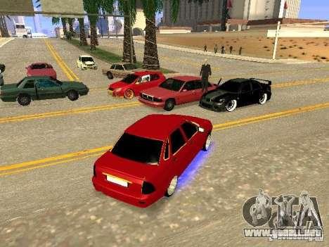LADA Priora oro 2170 Edition para vista inferior GTA San Andreas