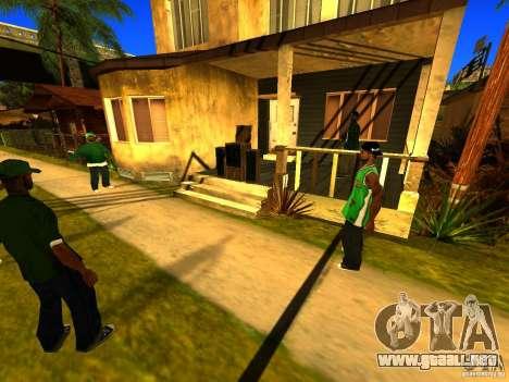 Área de fiesta para GTA San Andreas sucesivamente de pantalla
