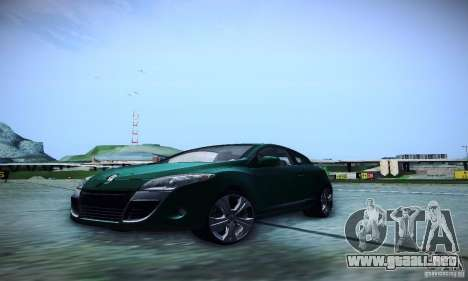 Renault Megane Coupe para GTA San Andreas vista hacia atrás