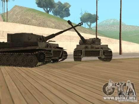 Pzkpfw VI Tiger para GTA San Andreas vista posterior izquierda